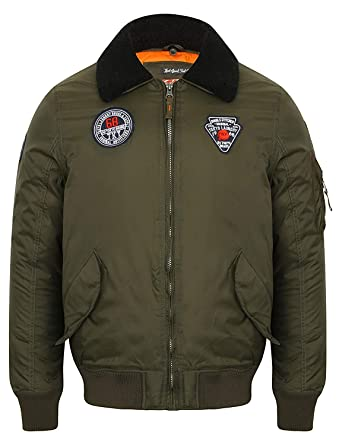 a6b718b37 hommes Bomber Tokyo Laundry Veste aviateur VOLANT MANTEAU POLAIRE ...