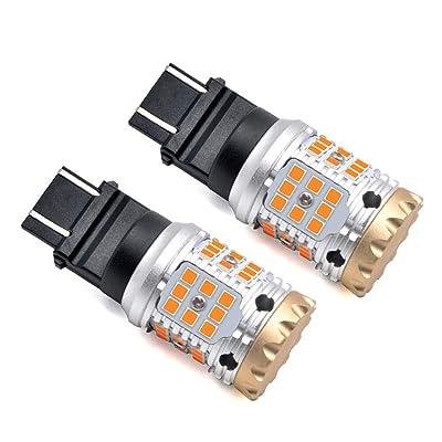 LASFIT 3157 3057 4057 4157 CANBUS LED Blinker Error Free Load Resistor LED Turn Signal Bulbs,Amber Yellow 2600lm(2pcs): Automotive