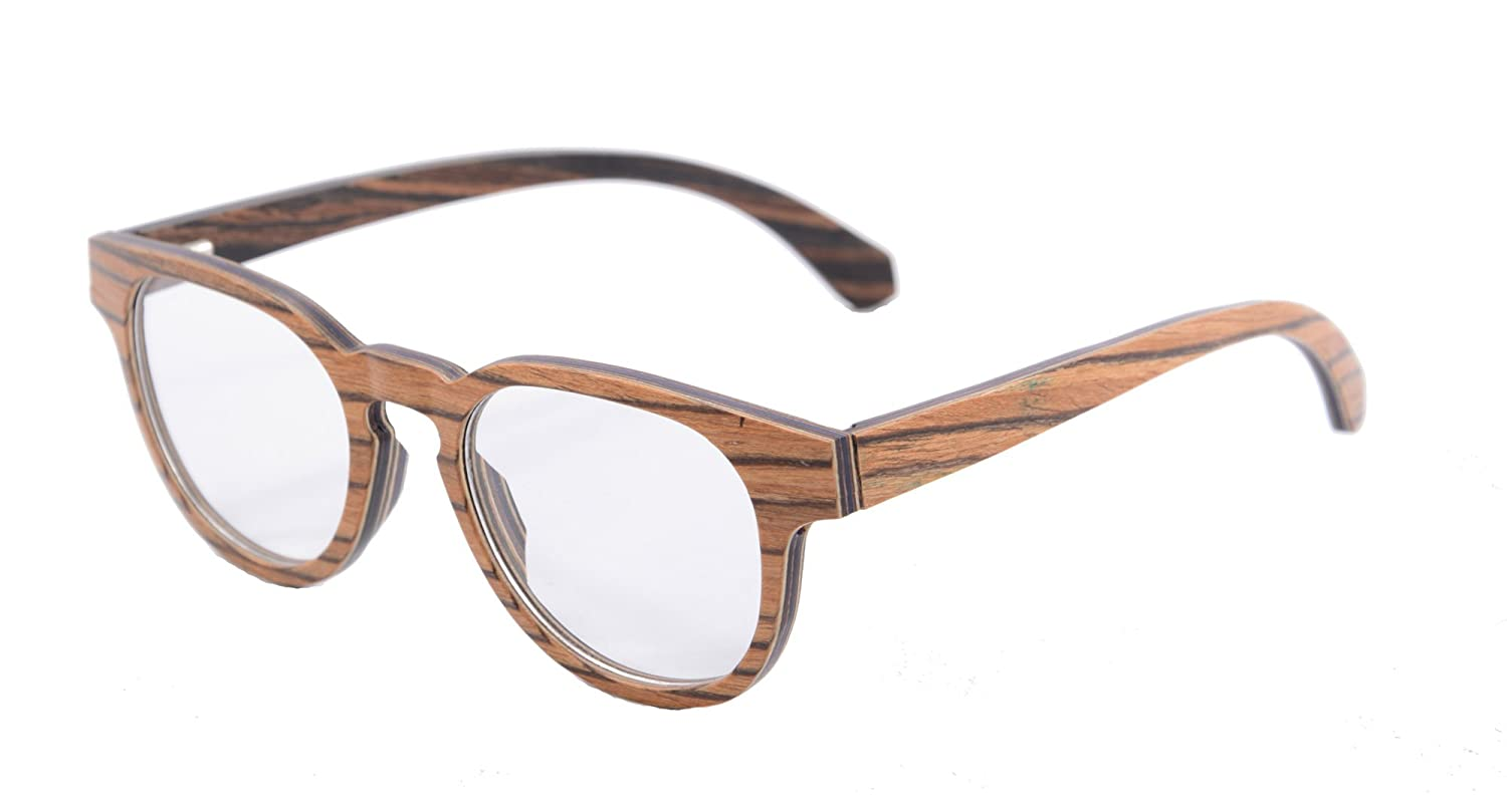 SHINU Retro Vintage Wood Glasses Clear Lens Wooden Frame Eyeglasses-133 F133