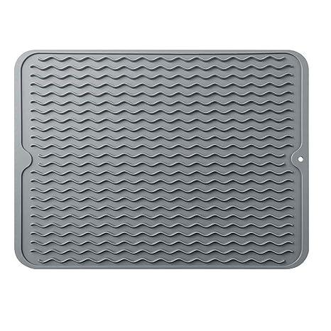 Amazon.com: Alfombrilla de secado de platos de silicona ...