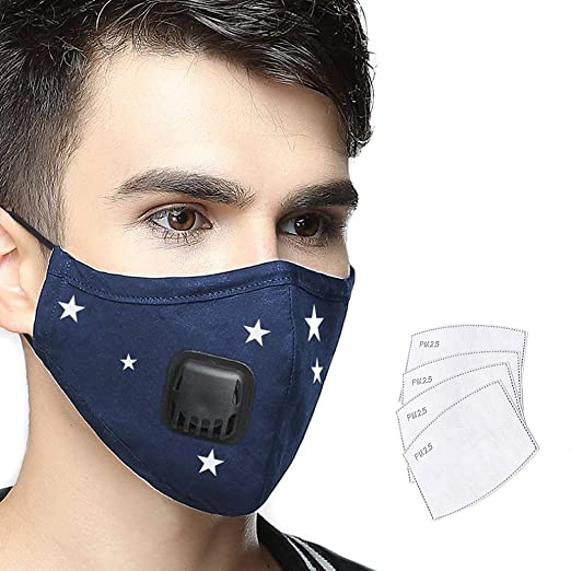 4 Filters Mask Military With Pollution Valve Anti Filter one Grade Lyanty N99 Mouth Cotton medium Replaceable Masks Washable