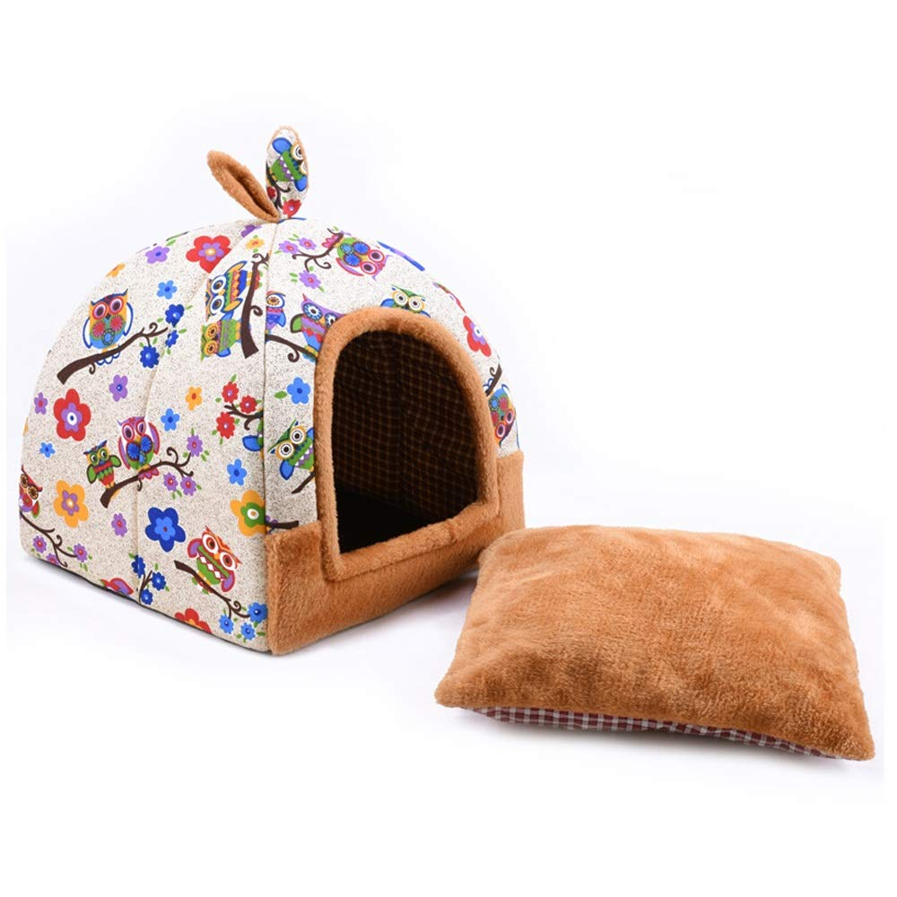 A 424243cm A 424243cm XINGZHE Pet Nest Kennel Cat Litter Removable and Washable Small Dog Teddy Pet Nest Pad Dog House Four Seasons Universal Pet Three colors Optional Pet Bed (color   A, Size   42  42  43cm)