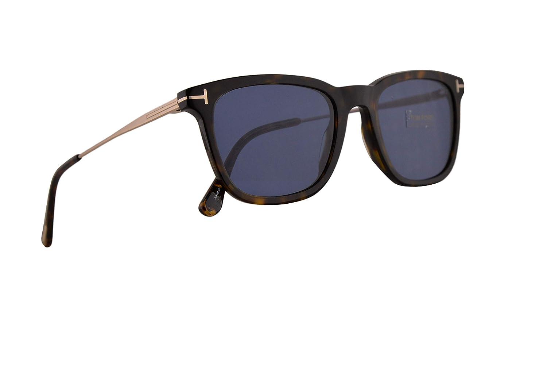 544f0512e9b Amazon.com  Tom Ford FT0625 Arnaud-02 Sunglasses Dark Havana w Blue 53mm  Lens 52V FT625 TF 625 TF625  Clothing