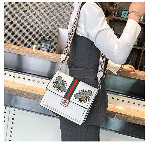 brodé de des sac l'été White sac fête l'atmosphère de femmes de sac de petit à tout bandoulière la mode Fourre qT6I6p