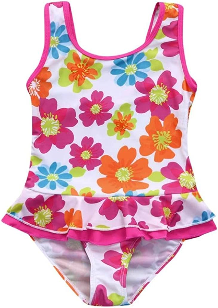Infant Flower Ruffles Dress Swimsuit Swimwear One Piece Iuhan Baby Girls Swimsuit