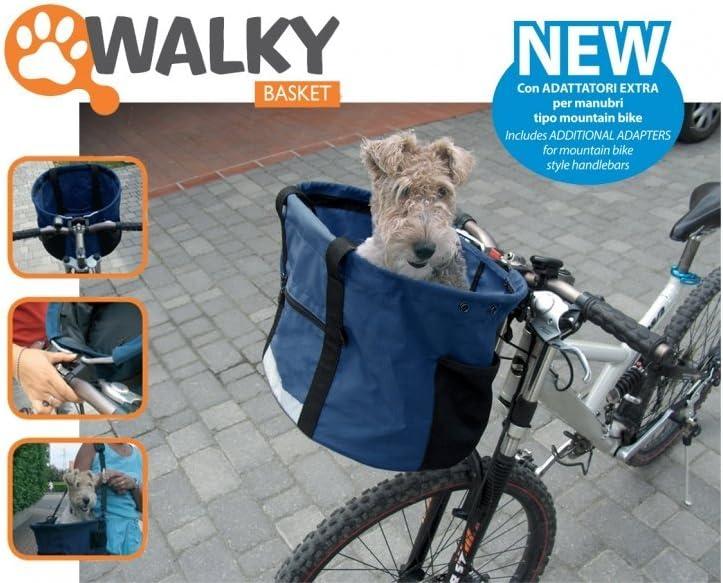 Camon Walky Basket - Papelera Cesta Portador De La Bici De Nylon Del Gato Del Perro Casero, Con Los Bolsillos Organizador, Fácil De Solucionar: Amazon.es: Deportes y aire libre