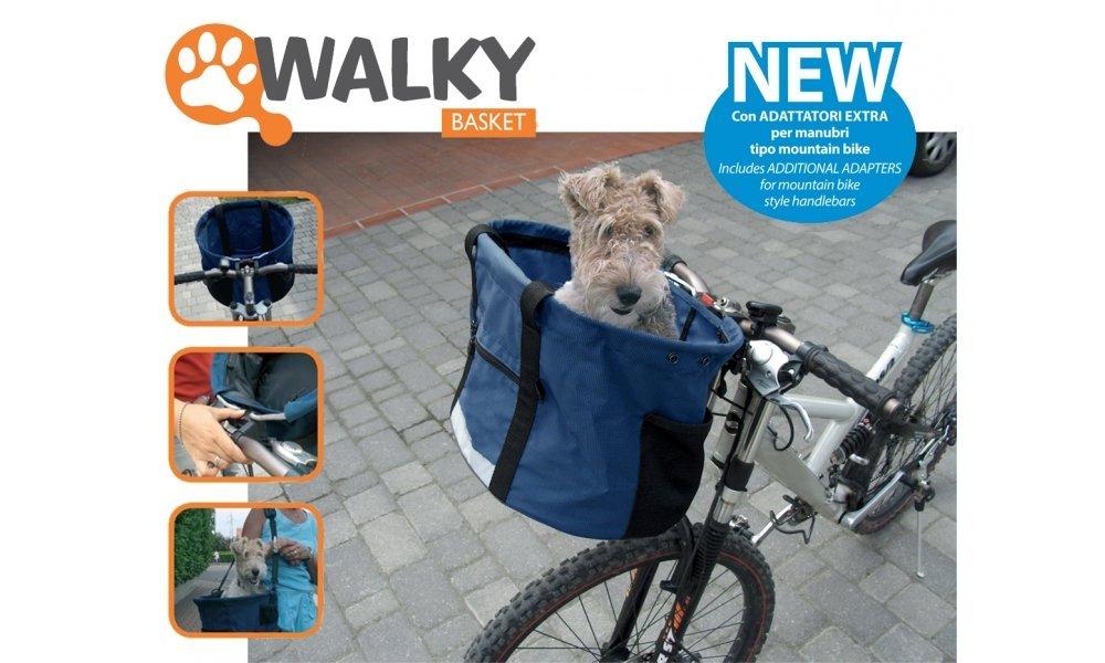 Camon Walky Basket - Trasportino Cestino Bici In Nylon Per Animali Cane Gatto, Tasche Portaoggetti, Facile Da Fissare