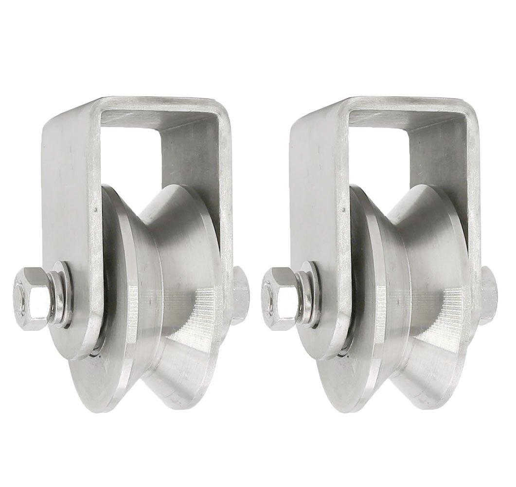 Stainless Steel V Groove Wheel Gate Track Roller (2 pcs)