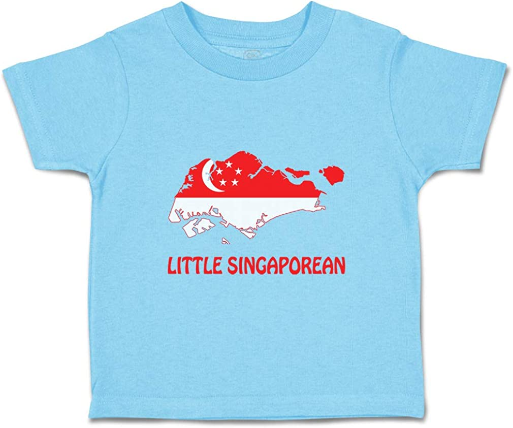 Custom Baby /& Toddler T-Shirt Little Singaporean Cotton Boy Girl Clothes