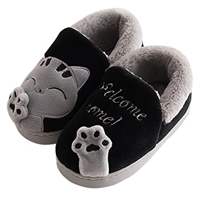 Amazon.com   ChicPro Cute Comfy Kids Toddler Cat Slippers Winter ...