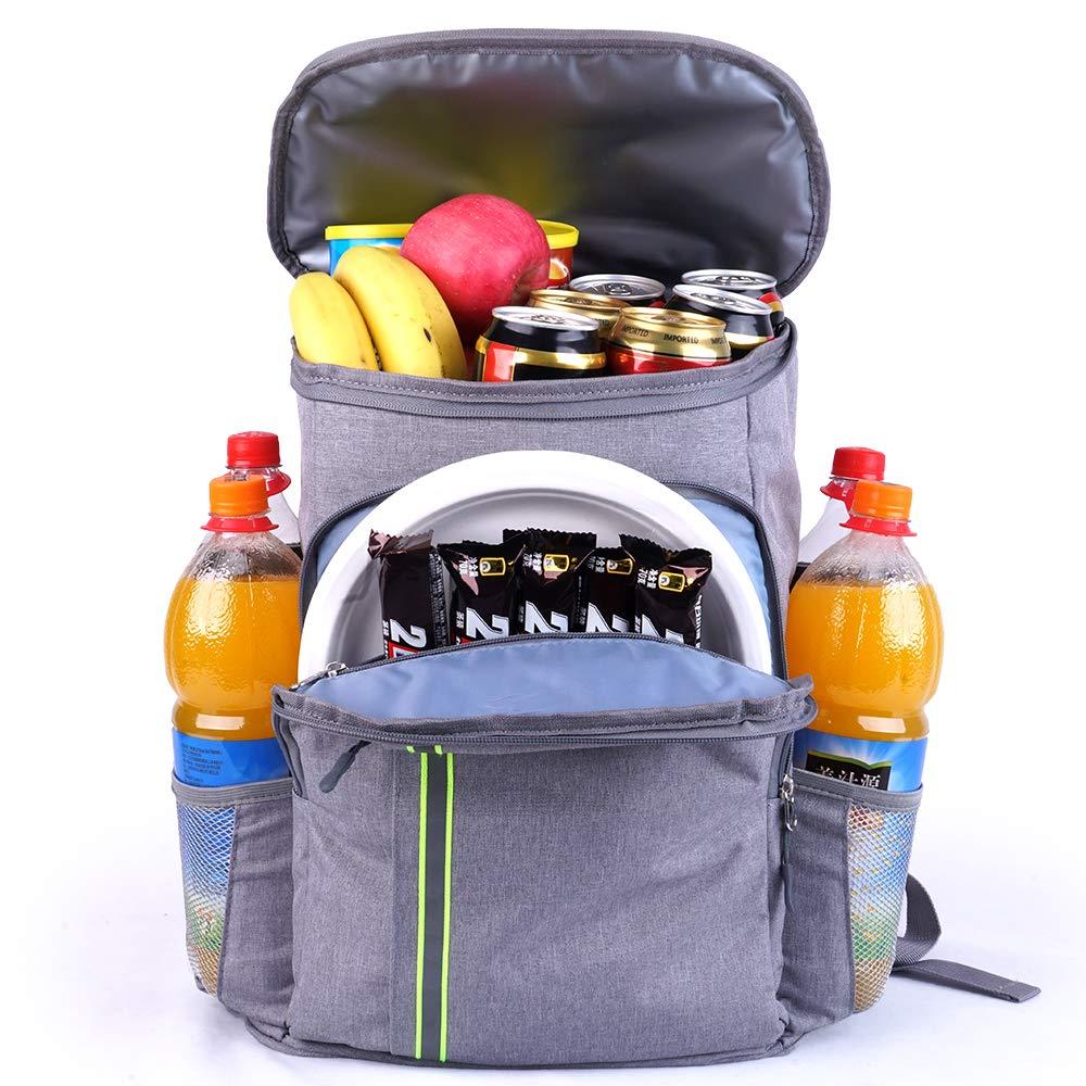 Leak Proof Small Grey Cooler Backpack Insulated Waterproof Leakproof