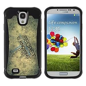 Tiktaktok Armor Defend Case Cover for Samsung Galaxy S4 - Typography Secret