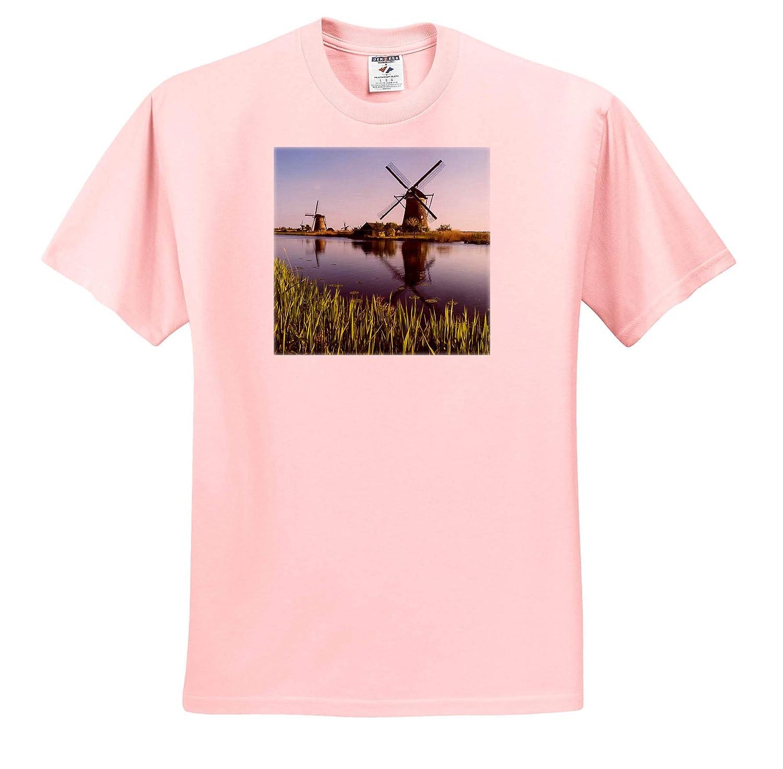 - Adult T-Shirt XL 3dRose Danita Delimont Netherlands Kinderdijk ts/_313791 Windmills Along The canals Netherlands
