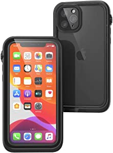 Waterproof Case for iPhone 11 Pro with Lanyard, Clear Back, Military Grade Quality, 33ft Waterproof, 6.6ft Drop Proof, Built-in Screen Protector, Retail Packaging - Black