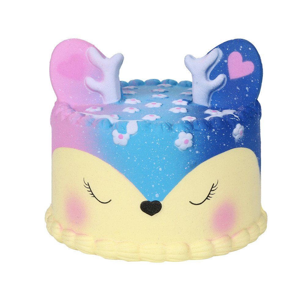 Hot Sale!! Squishy Toy, ZOMUSAR Galaxy Jumbo Deer Cake Slow Rising Scented Squeeze Stress Relief Toy (Brown)