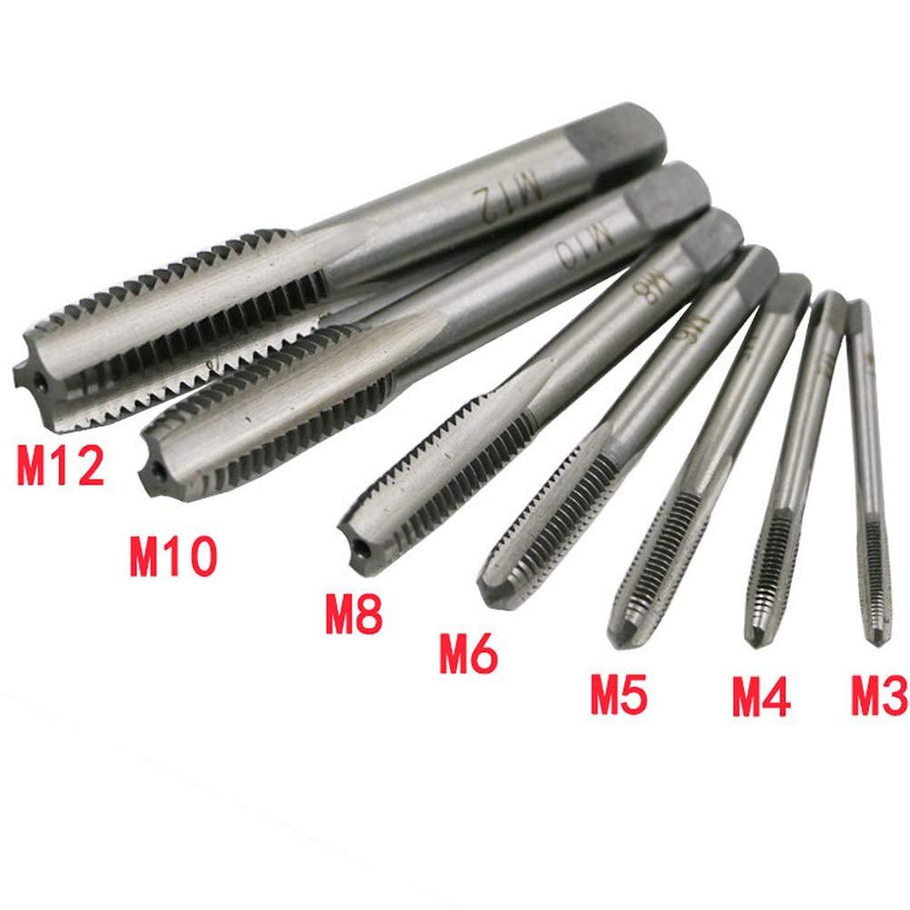 HSS para mano izquierda Juego de 7 roscas m/étricas NACOLA M3-M12
