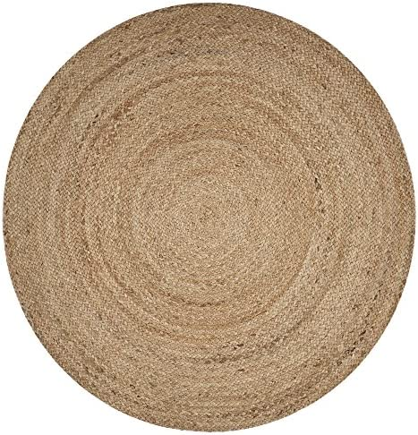 LR Resources Jute LR50136-NAT80RD Natural Round 7'6 Indoor Area Rug