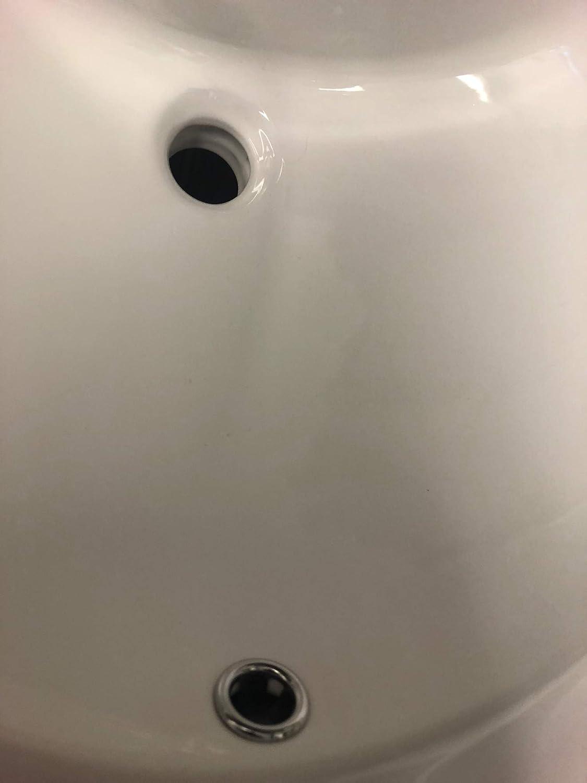 Kingsman 19 Inch Durable Round Topmount Self Rimming Drop In Vitreous Ceramic Lavatory Vanity Bathroom Sink Pure White 19 Amazon Com