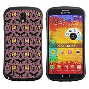 DesignCase Premium TPU / ABS Hybrid Back Case Cover Samsung Galaxy Note 3 III ( assorted butterfly )