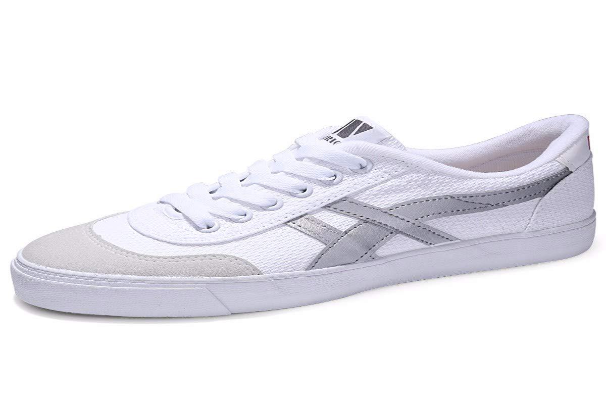 KMJBS Herrenschuhe Leinwand-Schuhe Männer Im Sommer Schuhe Weiße Schuhe Niedrige Basketball-Schuhe Klassischen Freizeit-Sport-Schuhe.
