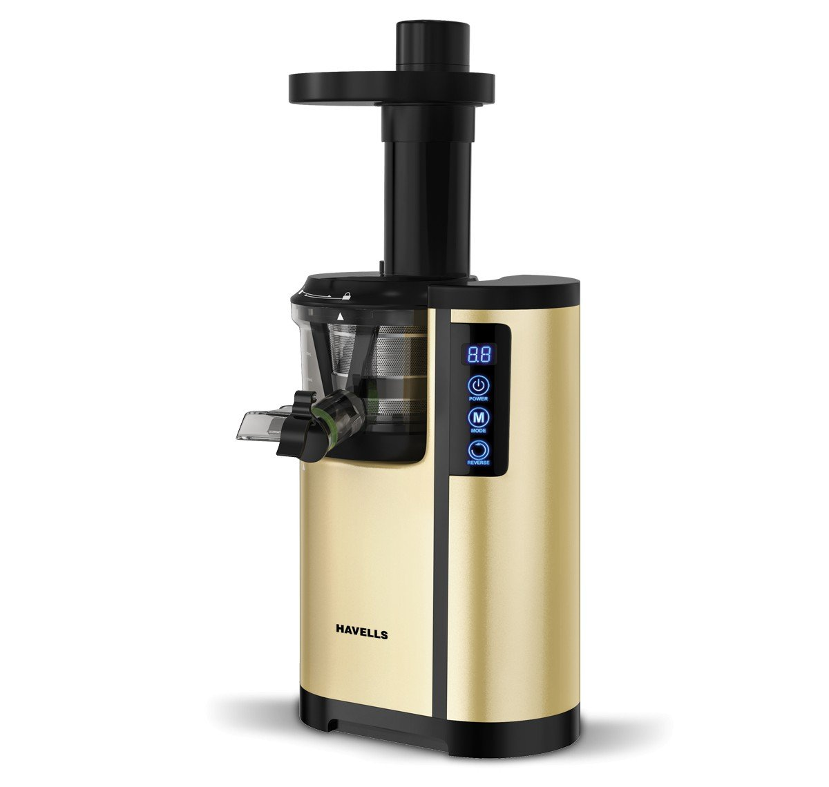 9. Havells Nutrisense 150W Cold Press Slow Juicer