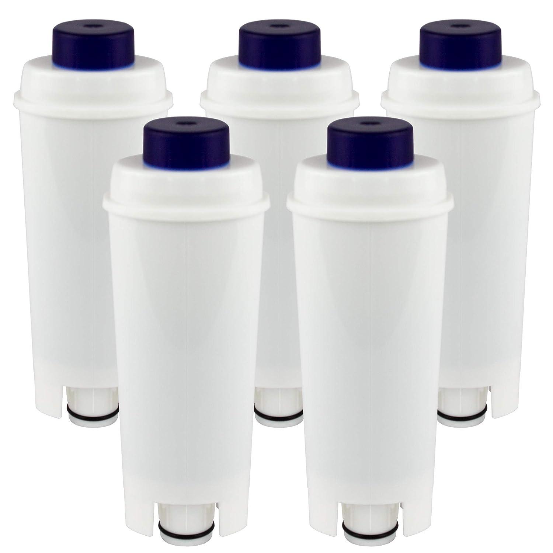 Juego de 5 filtros de agua compatibles con cafeteras DeLonghi DLS ...