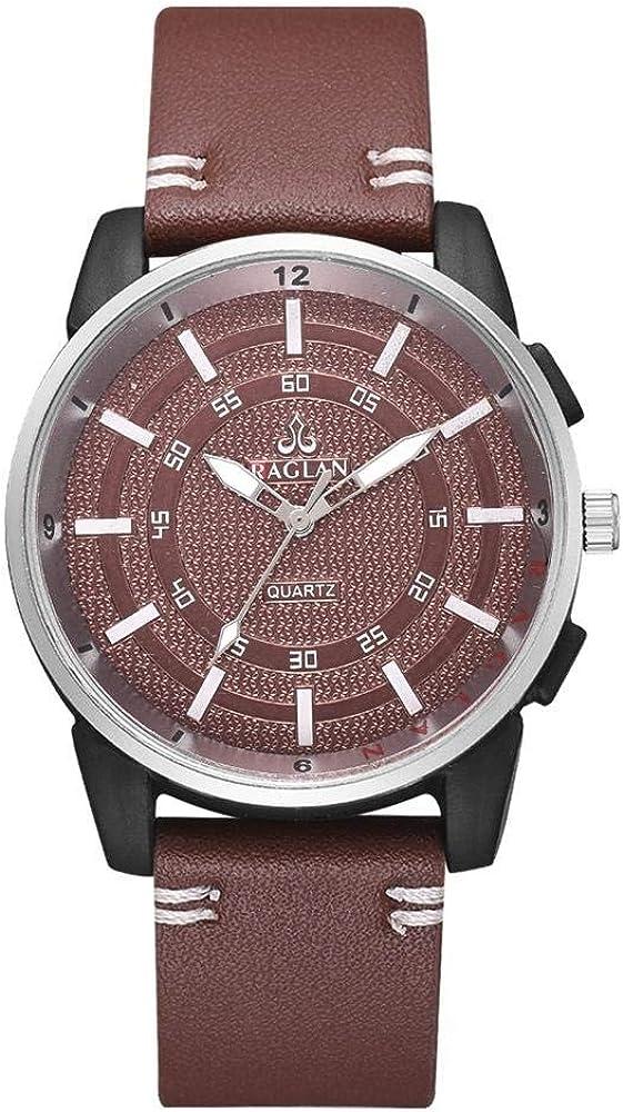 Reloj Reloj De PU Geneva Quartz Watch-Dark Brown