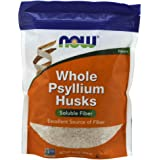 NOW Supplements, Whole Psyllium Husks, Non-GMO Project Verified, Soluble Fiber, 16-Ounce
