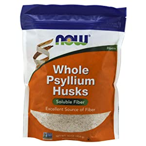 NOWPsyllium Husks Whole, 16-Ounce(Packaging may vary)