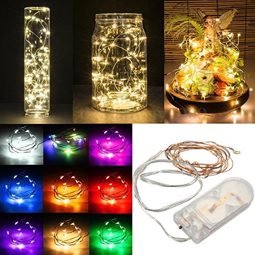 WensLTD 2M/20 LED Fairy String Lights Battery Operated Xmas Lights Party Wedding Lamp (Multicolor)