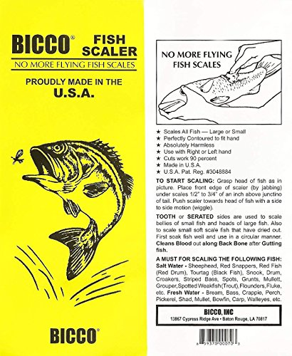 Bicco Plastic Fish Scaler (8-Pack) by Bicco (Image #5)