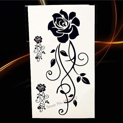 Yyoutop Cool Negro Azul Pistola y Tatuaje Body Art Supermodel ...