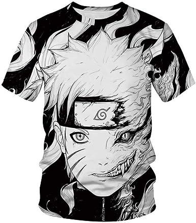 TWQOFV Camisetas Hombre Rock Grupos Naruto Hombres Mujeres Camiseta Verano O-Cuello Ropa Personajes de Anime Impresión 3D Camiseta de Dibujos Animados Camiseta Gris XXXL: Amazon.es: Ropa y accesorios