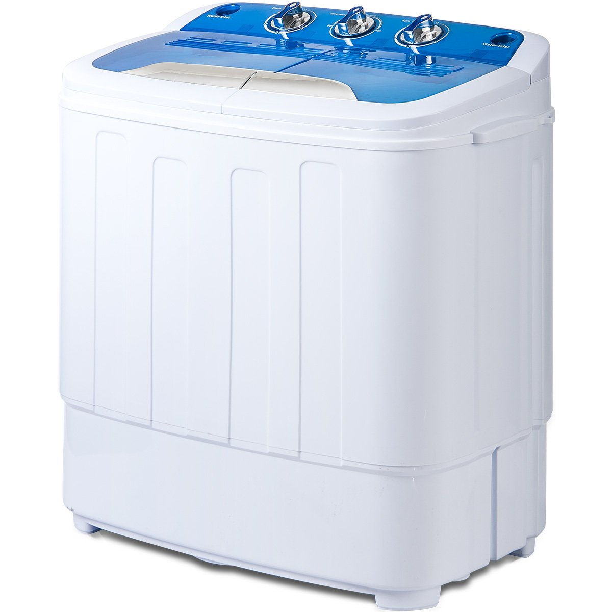 Merax Portable Mini Compact Twin Tub Washing Machine and Washer Spin Cycle, FCC Verification (Blue&White)