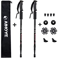 Aihoye Hiking Trekking Poles, 2 Pack Collapsible,Lightweight, Anti Shock, Hiking or Walking Sticks,Adjustable Hiking Pole for Men and Women, with 10 Replacement Tips
