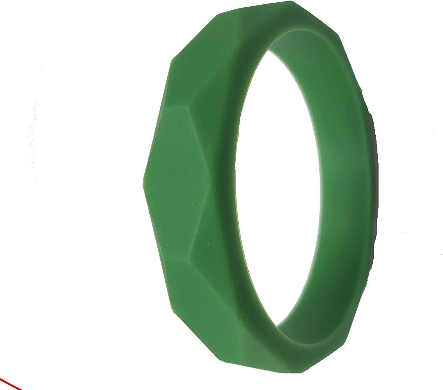 Anxiety ADHD dark green Autism Chew Pendant Bangle Bracelet Training and Development Fidget Toy Chew Necklace for Teething Babies,Sensory,Oral Motor