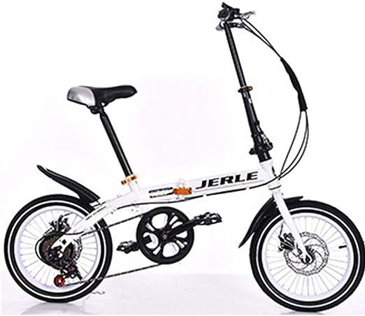 DPGPLP Bicicleta Plegable Coche Plegable 14 Pulgadas 16 Pulgadas ...