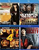 Four Film Favorites Action Blu Ray Olympus Has Fallen / Salt Angelina Jolie / Rocky V Stallone / Legends Universal Soldier / Second Command / Attack Force / Into the Sun Seagal + Van Damme Bundle