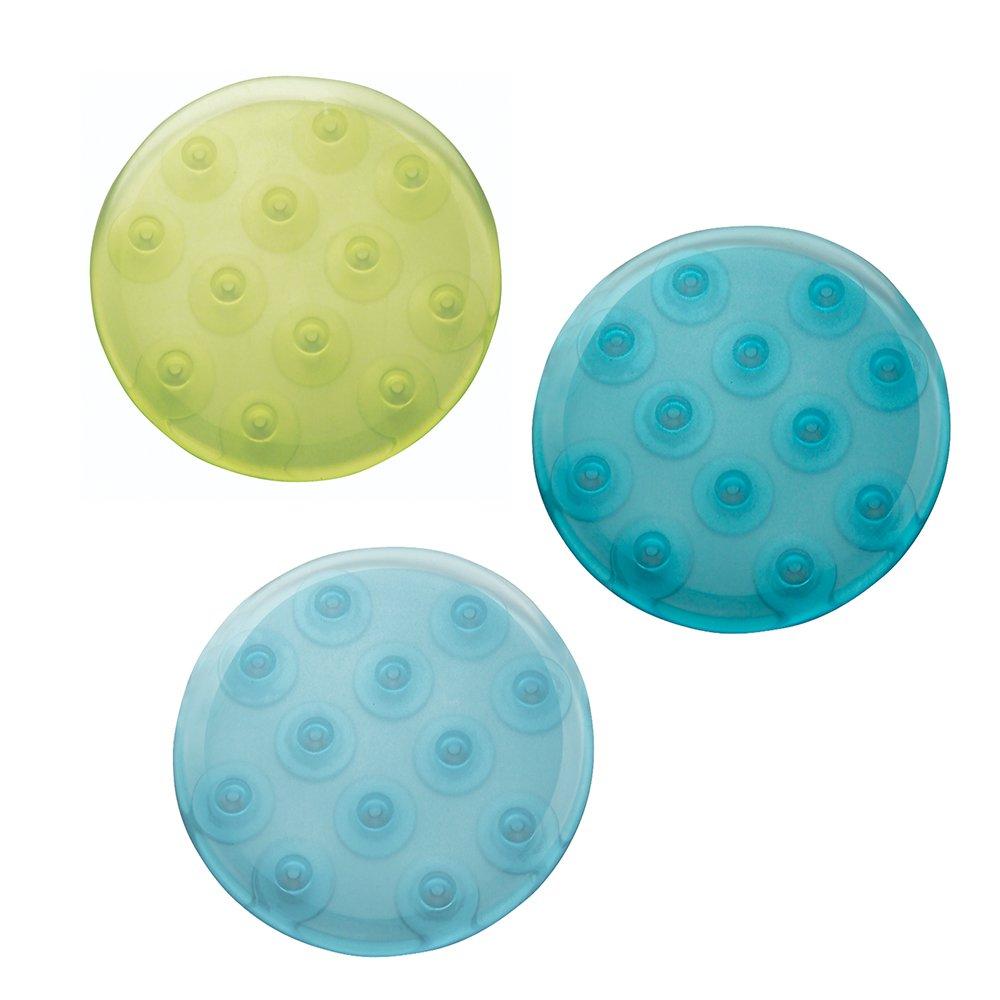 InterDesign Glee Bath Dots, Set of 6, Rain Assorted 14053
