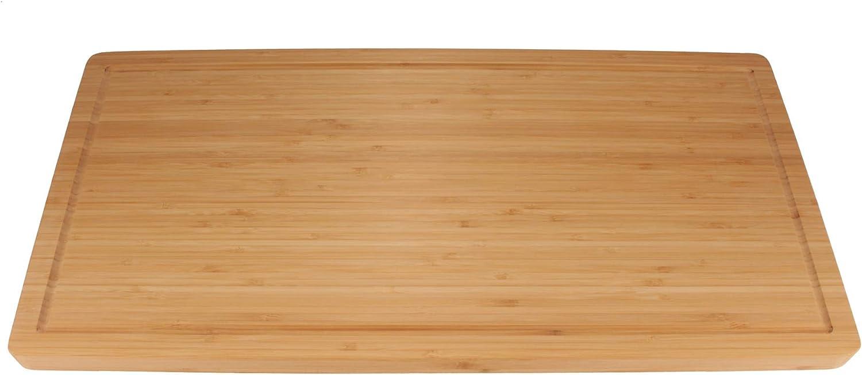 "BambooMN Brand - Heavy Duty Premium Bamboo Cutting Board - 24"" x 12"" x 1"""