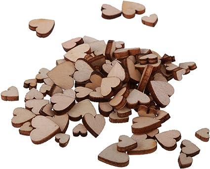 sharprepublic Holzherzen Deko mit Loch /Ø 12cm Holzscheiben Holz Herz Verzierungen Holzanh/änger Scrapbooking 10 St/ück 12cm