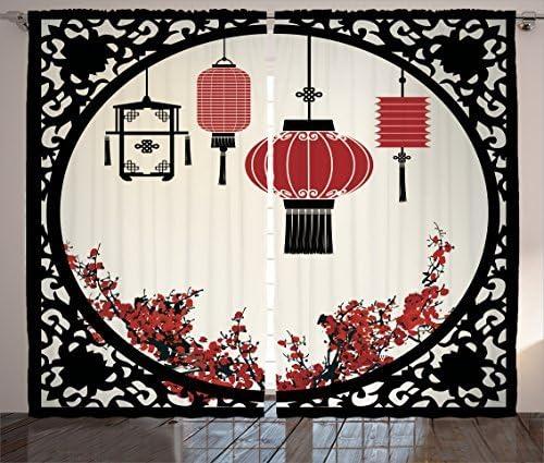 Ambesonne Lantern Curtains