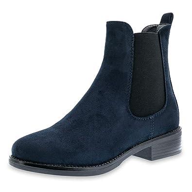 376f3fe2a18a31 Marimo Damen Stiefeletten Chelsea Ankle Boots Wildlederoptik Blockabsatz  Profilsohle  Amazon.de  Schuhe   Handtaschen