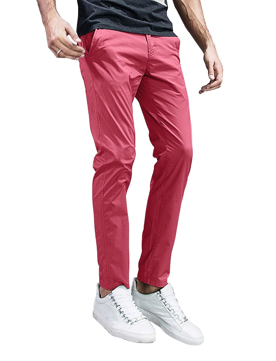 185b1098 Galleon - Match Mens Slim-Tapered Flat-Front Casual Pants (32, 8105 ...
