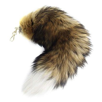 Amazon.com: CANNISHOP - Llavero con forma de cola de zorro ...