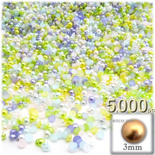 the-crafts-outlet-5000-piece-pearl-finish-half-dome-round-beads-2mm-pastel-mix