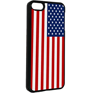 iPod Touch 6 Case,BOSLIVE USA American Flag Background Design Hard Plastic Cover Anti-