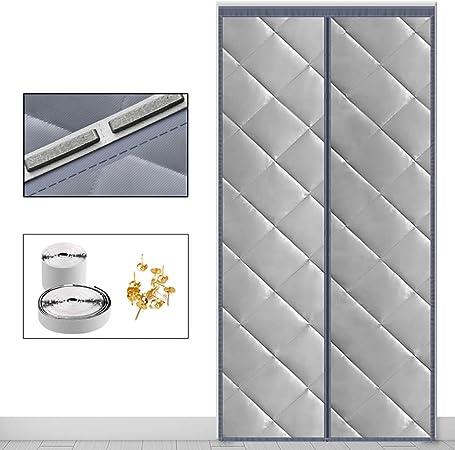 HMHD Protector de Puerta Magnético, Aislante Térmico Cierre MagnéTico Cortina Aislamiento Acústico Anti-Frio, para La Sala De Aire Acondicionado -Gray-110x200CM: Amazon.es: Hogar