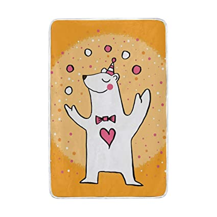 23c6920a6285 Amazon.com: Lilibeely Ultra Soft Microplush Velvet Cute Circus Polar ...