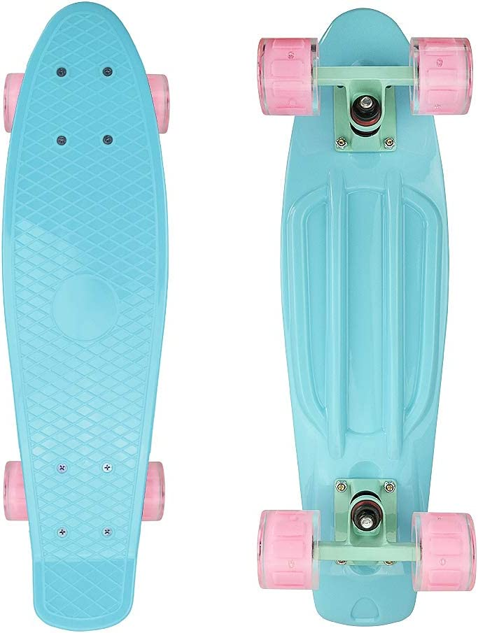 """Mini 19/"""" Longboard Skateboard Cruiser Skateboard Banana 330Lb Comfortable Deck"""